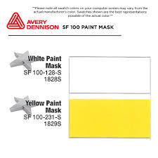 Yellow Swatches Avery Dennison Sf 100 Paint Mask Stencil Film White Or Yellow