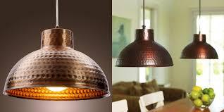 Copper Light Pendants Hammered Copper Pendant Light Visionexchange Co