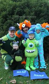 Baby Monster Halloween Costumes by Diy Monsters University Family Costumes