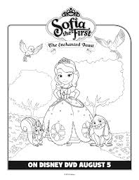 6 sofia the first printable coloring sheets hispana global