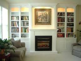 Built In Bookcases With Tv Bookcase Bookcases Shelves Tv Above Electric Fireplace With