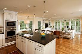 family kitchen ideas open kitchen and family room captivating family kitchen design
