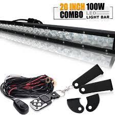 20 single row led light bar quakeworld 20 21 100w single row led light bar spot flood combo