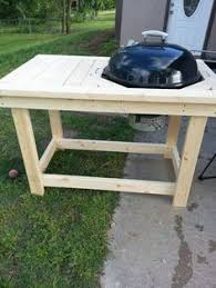 how to build a weber grill table i got tired of not having a work table when i was grilling i always