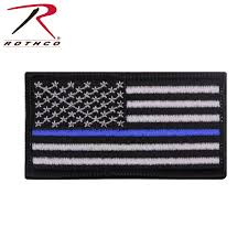 Uniform Flag Patch Rothco Thin Blue Line Flag Patch Iron On