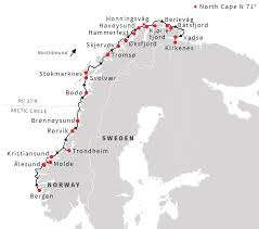 Around The World In 80 Days Map by Norway Cruise Discover The Norwegian Fjords From Bergen To