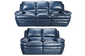 blue reclining sofa and loveseat mazarine power reclining leather sofa loveseat at gardner white