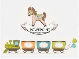 templates powerpoint lucu trojan kereta sepeda anak anak lucu mainan tema kartun ppt template