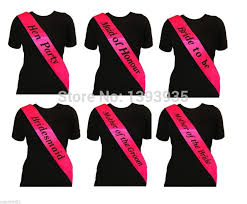 sash ribbon bright pink sash hen party accessories sashes wedding