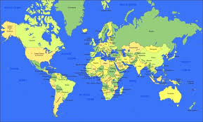 the map of the earth map of the earth major tourist attractions maps