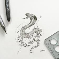geometric beasts cobra geometric art pinterest beast