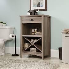 bathroom cool free standing linen tower cabinet criss cross rack
