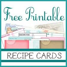 free printable recipe cards and tags some of these would work