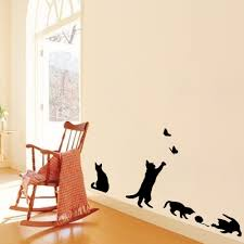 Decoration Cat Wall Decals Home by Staircase Cats Wall Sticke Vinyl Home Decor Living Room Kids Wall