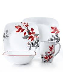 Corelle 76 Piece Dinnerware Set 5 Best Corelle Square 32 Piece Dinnerware Set Kyoto Leaves Service