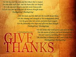 thanksgiving blessings and poems giving thanks thanksgiving