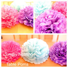 Centerpieces For Family Reunions Table by 1 Xl 18 Inch Table Centerpiece Tissue Paper Pom By Simplynesting