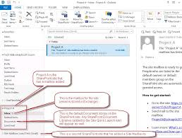 outlook 2013 design sharepoint site mailbox integration with outlook a new way to