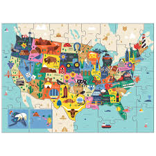 The Map Of Us Map Of The U S A Puzzle Mudpuppy