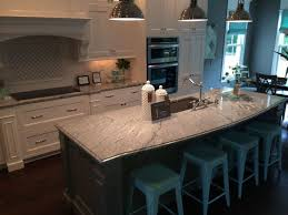 granite countertop white glass front cabinets crackle glass