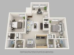 Floor Plan Of An Apartment Park On Clairmont Apartments Floor Plans And Models