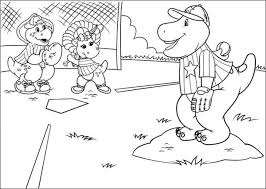 coloring pages barney friends kids 00167