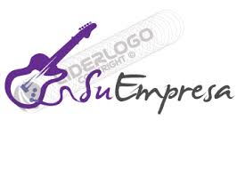imagenes logos musicales logotipo para clases de guitarra liderlogo