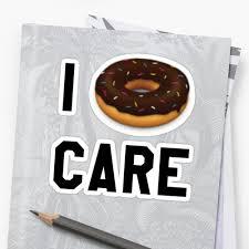 Doughnut Meme - i donut care funny trendy girly hipster emoji meme stickers by