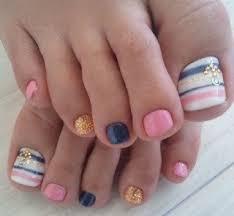 toe nail art ideas halloween colors pink u003dorange navy blue u003dblack