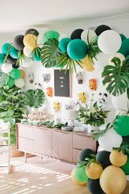 1st birthday party ideas for kara s party ideas sweet table from a jungle 1st birthday party