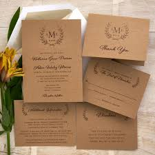 rustic chic wedding invitations rustic wedding invitation set monogram wedding invite cottage