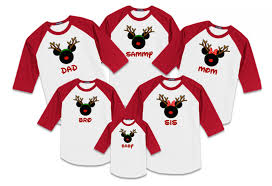 disney reindeer family vacation raglan t shirts the