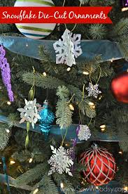 title snowflake die cut ornaments cricut giveaway title sew