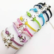 anchor jewelry bracelet images Cape cod anchor bracelets with colored leather strap made on cape cod jpg