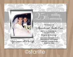 popular invitation cards for 25th wedding anniversary 90 for