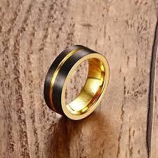 cincin tungsten carbide mprainbow fashion mens cincin tungsten carbide hitam logam rainbow