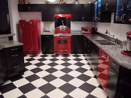 Retro Flooring by Kitchen Style Modern Retro Style Kitchen Black Matte Cabinets