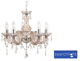 Marie Chandelier Searchlight Marie Therese 5 Light Acrylic Ceiling Chandelier Mink