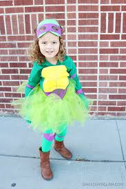 Ninja Turtle Halloween Costume Girls Diy Sew Ninja Turtle Costume Girls Loves Glam