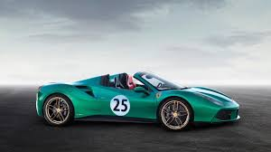 ferrari spider ferrari 488 spider u0027green jewel u0027 sells for a whopping 1 3m update