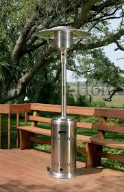 fire sense stainless steel patio heater with adjustable table collection in fire sense patio heater outdoor remodel pictures fire