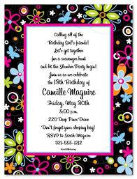 Birthday Invitation Words Birthday Party Invitation Wording Badbrya Com