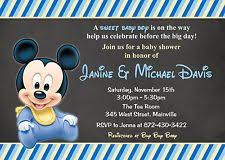 mickey mouse baby shower invitations baby shower mickey mouse greeting cards invitations ebay