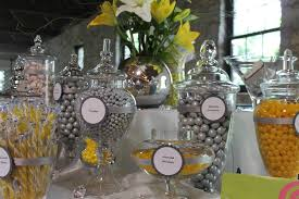silver yellow and white candy buffet charity event photos sweet
