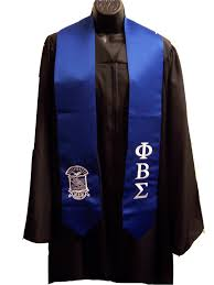 graduation scarf phi beta sigma royal blue satin graduation stole w