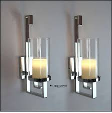 Gold Wall Sconces For Candles Sconce Lg Contemporary Gold Glass Wall Sconce Candle Holder