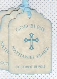 baptism favor tags 20 religious baby boy baptism favor tags communion favor tags