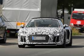 Audi R8 Turbo - 2017 audi r8 spyder spied again could challenge turbo s cabrio