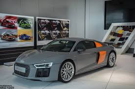 this two tone r8 v10 plus by audi exclusive looks rather clever
