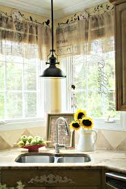 Valances For Kitchen Diy No Sew Burlap Kitchen Valances Made From Coffee Bags